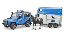 Macchina Land Rover Defender Polizia | Gioco Bruder