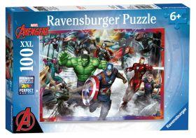 Puzzle 100 pezzi XXL Avengers Ravensburger su ARSLUDICA.com