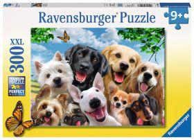 Puzzle 300 pezzi XXL Selfie Canino Ravensburger su ARSLUDICA.com