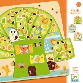 Puzzle in Legno 3 Layers Chez Nut (Puzzle per Bambini Djeco)