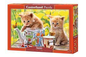 Puzzle 500 Pezzi Castorland Tea Time   Puzzle Animali