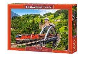 Puzzle 500 Pezzi Castorland Train on the Bridge   Puzzle Paesaggi