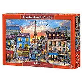 Puzzle 500 Pezzi Castorland Streets of Paris   Puzzle Città Paesaggi