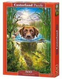 Puzzle 500 Pezzi Castorland Swimming Dog   Puzzle Animali