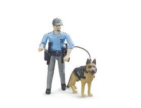 Personaggio Poliziotto con Cane | Gioco Bruder