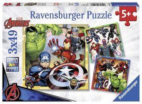 Puzzle 3x49 pezzi Avengers Ravensburger su ARSLUDICA.com