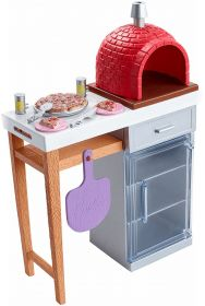 Barbie Forno in Mattoni per Pizza FXG39 (Barbie Accessori Esterno Mattel)