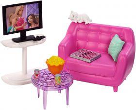 Barbie Soggiorno Movie Night (Barbie Accessori Interni)