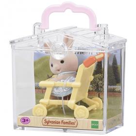 Bebè Coniglio Grigio + Passeggino (Sylvanian Families)