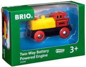 BRIO Locomotiva Bidirezionale a Batterie | Gioco in Legno