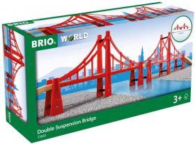 BRIO Ponte Sospeso a due Campate | Gioco in Legno