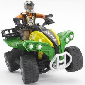 Quad con figura (Gioco Bruder) (Toy)