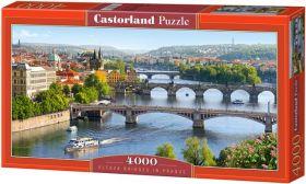 Puzzle 4000 pezzi Castorland Ponte di Vltava Praga | Puzzle Paesaggi Città