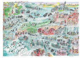 Puzzle Formiche 1000 pezzi Divina Commedia Inferno | Puzzle Fabio Vettori