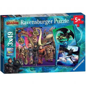 Dragons (Puzzle 3x49 pezzi Ravensburger)