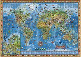 Puzzle 2000 Pezzi Heye Mappa Vintage World | Puzzle Fantasy