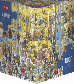 Puzzle 1000 Pezzi Heye Hotel Life Schöne | Puzzle Composizione - Confezione