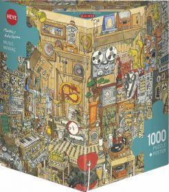 Puzzle 1000 Pezzi Heye Music Maniac Adolfsson | Puzzle Composizione - Confezione