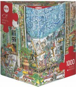 Puzzle 1000 Pezzi Heye Artist's Mind Korky Paul | Puzzle Composizione - Confezione
