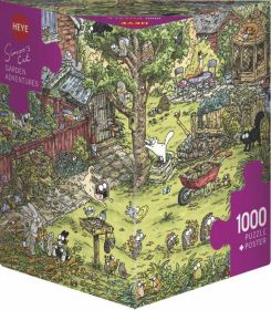 Puzzle 1000 Pezzi Heye Garden Adventures Simon's Cat | Puzzle Composizione - Confezione