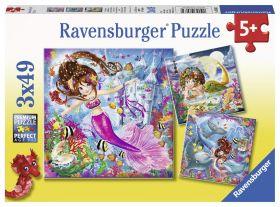 Incantevolli Sirene (Puzzle 3x49 pezzi Ravensburger)