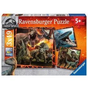 Jurassic World (Puzzle 3x49 pezzi Ravensburger)