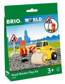 Kit di Gioco con Operaio Stradale 33899 (BRIO Lift and Load)