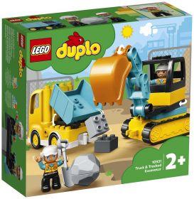 LEGO 10931 Camion e scavatrice cingolata LEGO Duplo su ARSLUDICA.com
