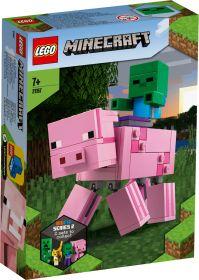 LEGO 21157 Maxi Figure Maiale e Baby Zombi LEGO Minecraft su ARSLUDICA.com