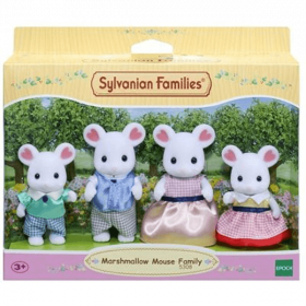 Marshmallow Famiglia Topolini Bianchi (Sylvanian Families)