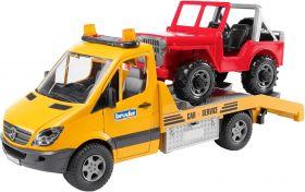Mb Sprinter Trasporto Jeep con Luci e Suono (Gioco Bruder)