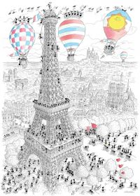 Parigi (Puzzle 1080 Pezzi Le Formiche di Fabio Vettori)