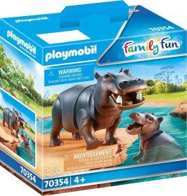 Playmobil 70354 Ippopotamo con Cucciolo (Playmobil Zoo)