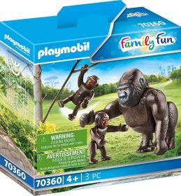 Playmobil 70360 Famiglia di Gorilla (Playmobil Zoo)