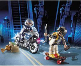 Starter Pack Poliziotto e Ladro   Playmobil Polizia