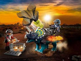 Playmobil 70627 Dinosauri Triceratopo Assalto alle Pietre Leggendarie | Playmobil Dino Rise