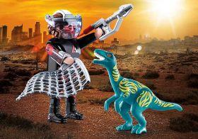 Playmobil 70693 Dinosauri DuoPack Velociraptor e Cacciatore | Playmobil Dino Rise