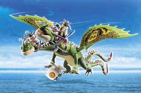 Dragons Racing: Testabruta E Testaditufo Con Vomito E Rutto | Playmobil Dragons