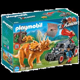 Playmobil 9434 Fuoristrada Con Rete Per I Dinosauri (Playmobil Dinosauri)