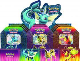Pokémon Potere degli Elementi Vaporeon / Flareon / Jolteon GX Tin da Collezione