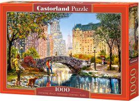Puzzle 1000 pezzi Castorland Passeggiata Serale a Central Park   Puzzle Città New York