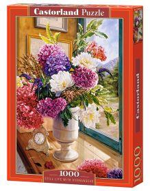 Puzzle 1000 pezzi Castorland Vita Morta con Bouquet di Ortensie | Puzzle Fiori