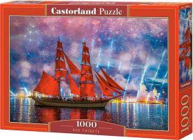 Puzzle 1000 pezzi Castorland Fregata Rossa | Puzzle Mare
