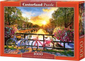 Puzzle 1000 pezzi Picturesque Amsterdam with Bicycles Castorland su arsludica.com