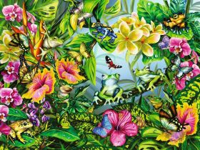 Puzzle Animali 1500 pezzi Ravensburger Find the Frogs