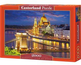 Puzzle 2000 pezzi Castorland Vista di Budapest al Tramonto   Puzzle Città