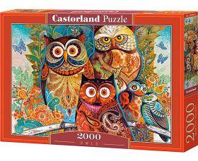 Puzzle 2000 pezzi Castorland Gufi | Puzzle Animali