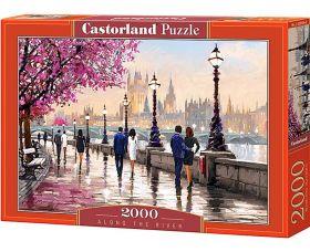 Puzzle 2000 pezzi Castorland Lungo il Fiume | Puzzle Persone