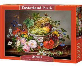Puzzle 2000 pezzi Castorland Fiori e Cesto di Frutta | Puzzle Fiori