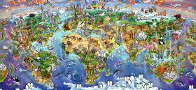 Puzzle Mappamondo 2000 pezzi Ravensburger Le Meraviglie del Mondo
